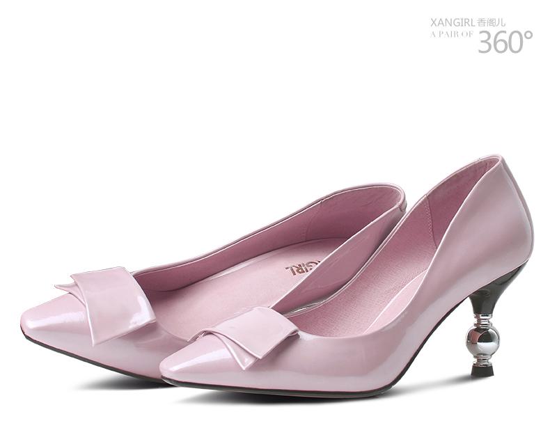 2016 new women shoe ladies heel pointed toe high brand design 6q6Bwr