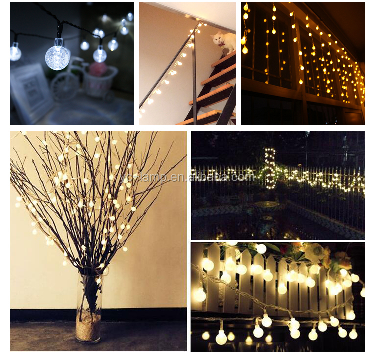 christmas holiday outdoor waterproof garden decoration solar led string lights