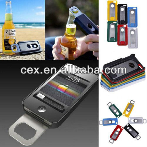 For iPhone 5 New Creative Beer Bottle Opener Slide In/Out Phone Shell Case Cover