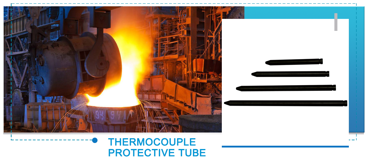 99% Pure silicon nitride thermocouple protection tube for nonferrous alloy industries