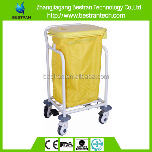 BT-SLT009 Foot pedal controlled single bin cost medical waste trolleys factories