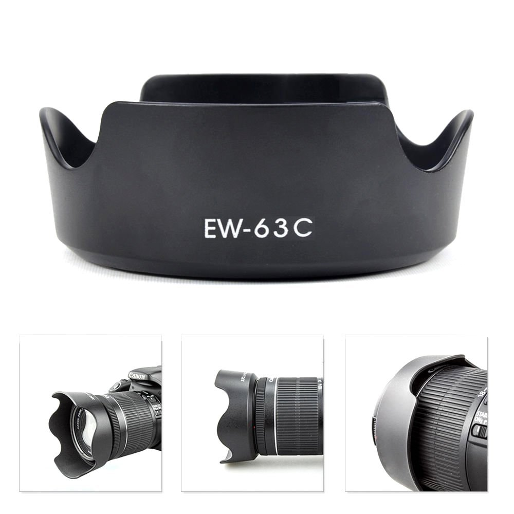 Tulip Lens Hood,Y&M(TM) Camera Lens Hood for Canon EW-63C Replacement lens hood for Canon EF-S 18-55mm f/3.5-5.6 IS STM