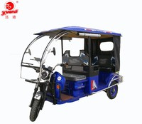 Steel Roof Electric Trike Tricycle For Passengers