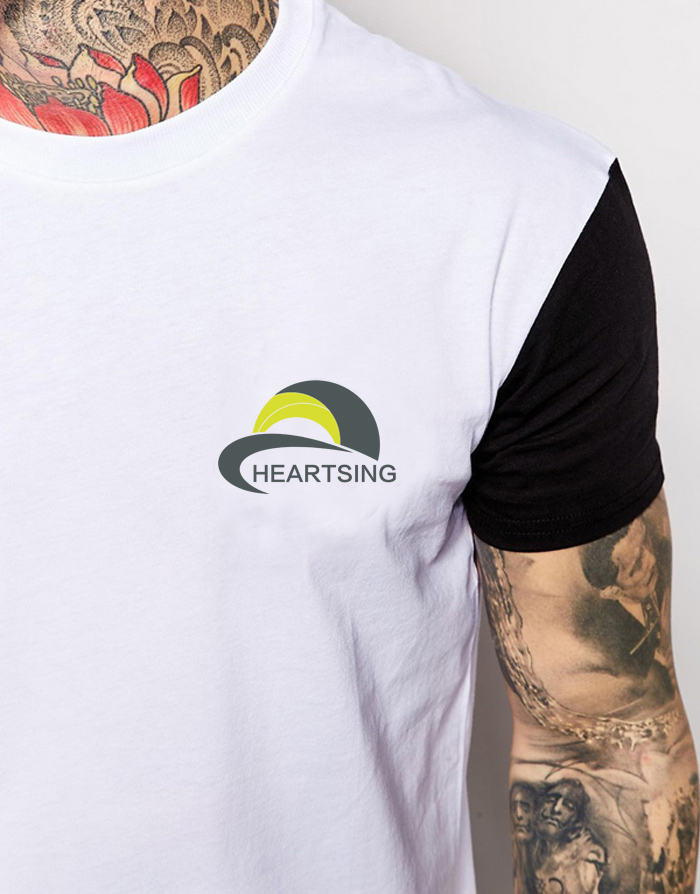 White And Black Screen Printing Two Tone T-shirt
