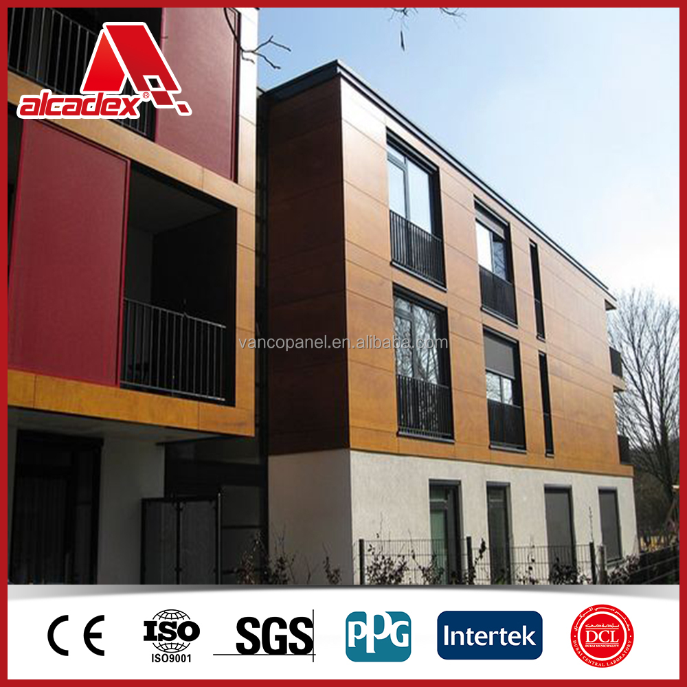 wood wall composite panel, exterior A2 grade laminate aluminum panel