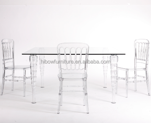 Acrylic Wedding Table from Lead Supplies Newest Design Clear Rectangle Acrylic Dining Table for Wedding Decoration