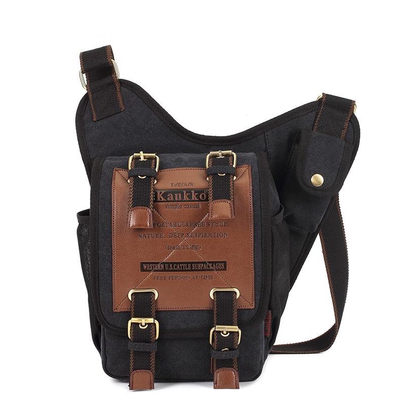 0f068000aaab Get Quotations · Hot Sale Multifunction Kaukko Men s Messenger Bag Canvas  Shoulder Bag Travel Tactical Bag with Crossbody Sling