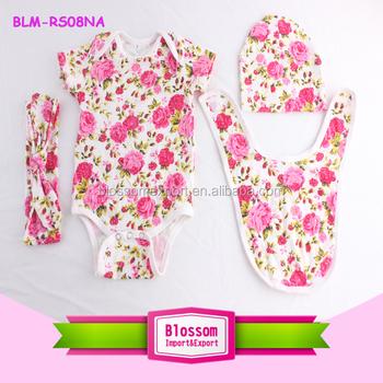 f6cfa89023f0 Toddler Girl Clothes Boutique Kids Pink Floral Romper 0-2t Infant ...