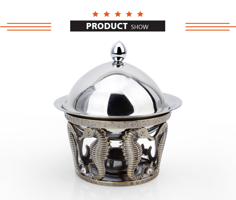 mini stainless steel alcohol soup food warmer hot pot for restaurant