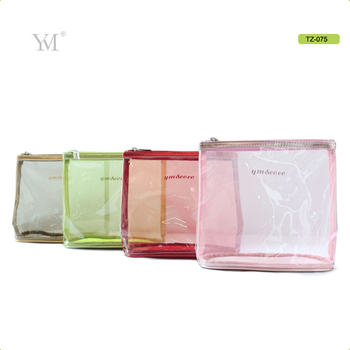 Whole Promotion Clear Woman Cosmetic Pvc Zipper Bag