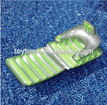 TRANSPARENT Pvc Inflatable Pool Lounge Chair Beach Air Mattress