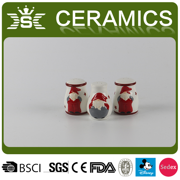 Christmas Kitchen Decor Ceramic Salt Pepper Shaker