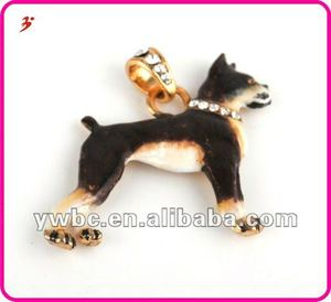 wholesale keychain accessories 16k gold plated alloy zodiac sign dog pendants (A1105355)