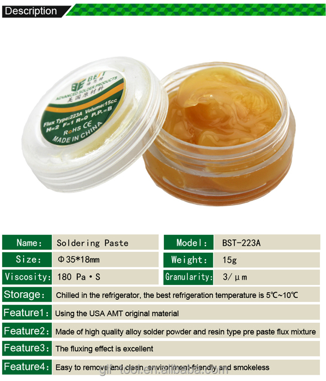BEST-223A lead-free tin solder paste price