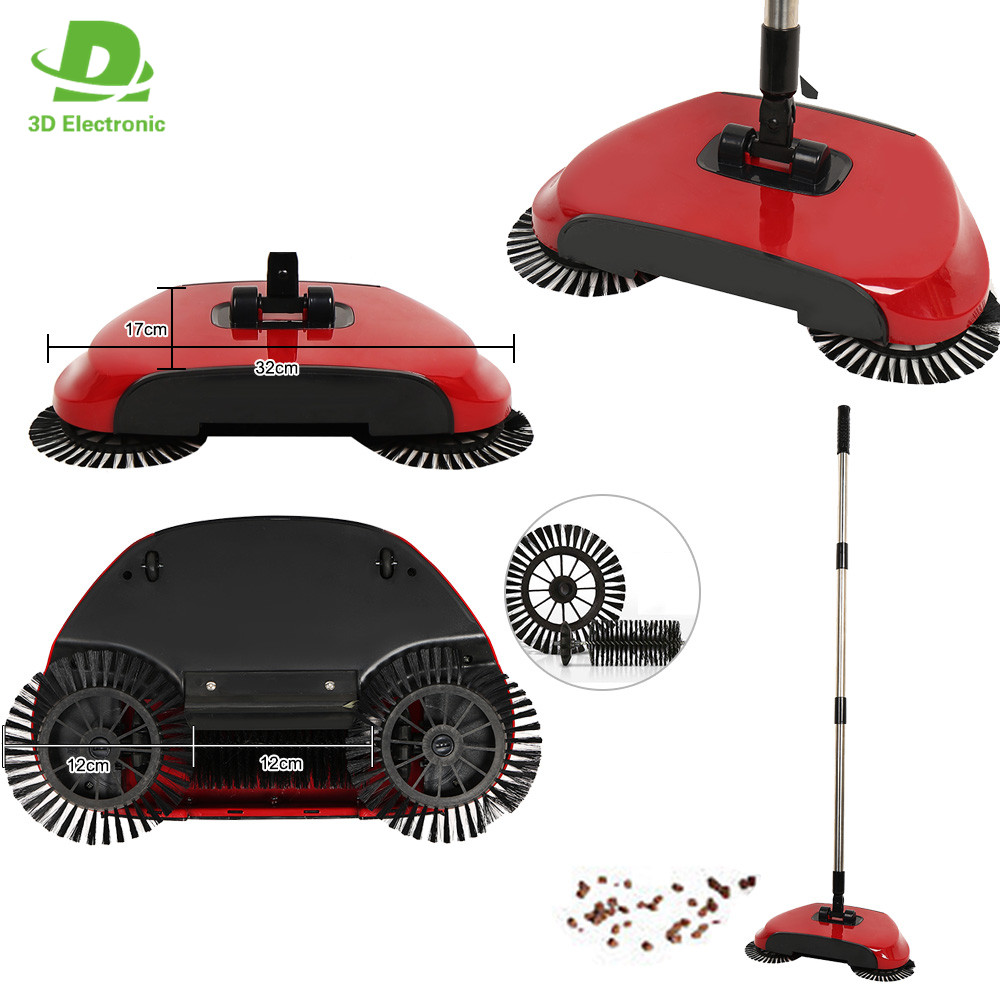 Automatic Spin Broom Floor Cleaning Magic Spinning Broom As Seen On Tv