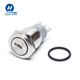 Chinese Supplier 19mm metallic 3 position push button key switch