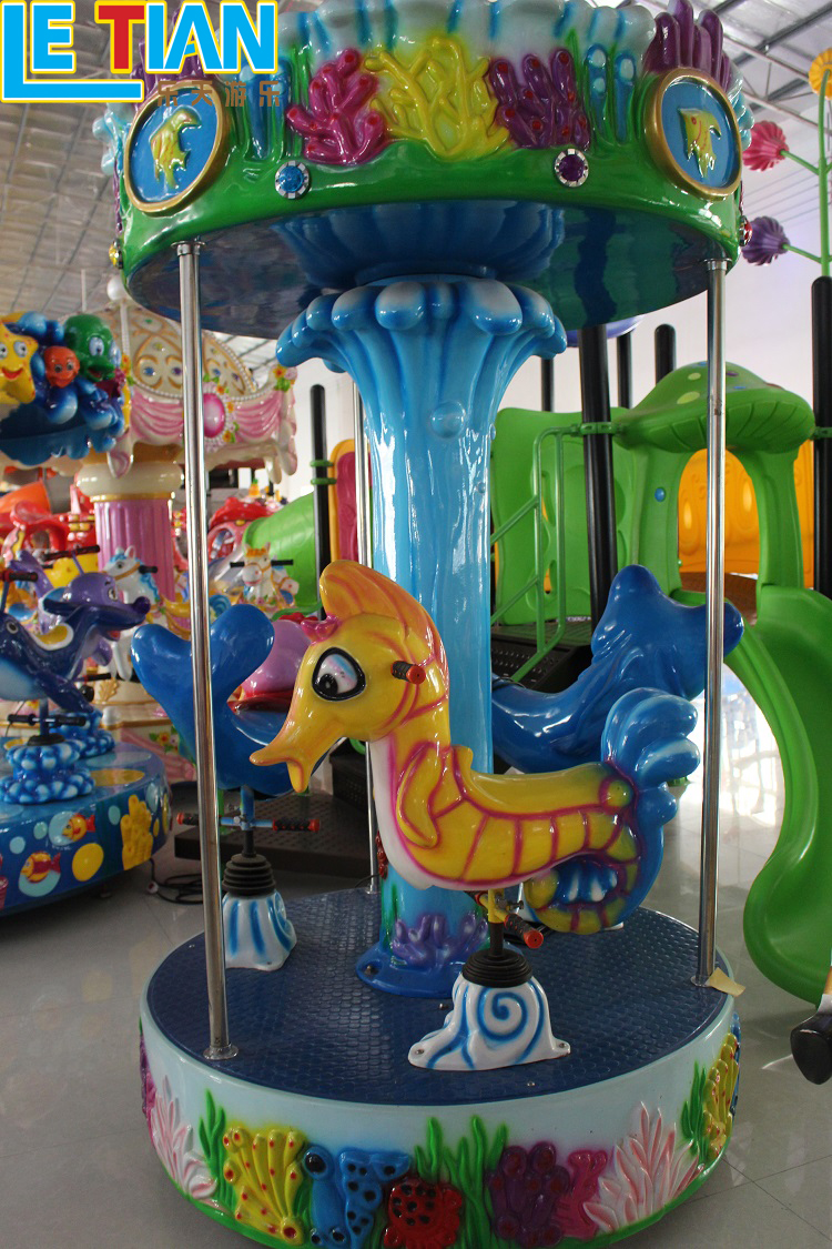 Coin Operated Kiddie Carousel Horse Ride Equipment for sale