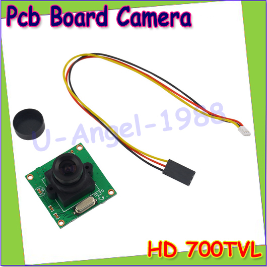 Wholesale 1pcs HD 700TVL CCD Mini Security Video PCB Board FPV Color Digital CCD Camera Dropship