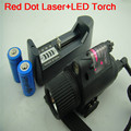Red Dot Laser Sight Scope CREE LED Flashlight Torch Rifle Gun Hunting Mount Rail 2 16340