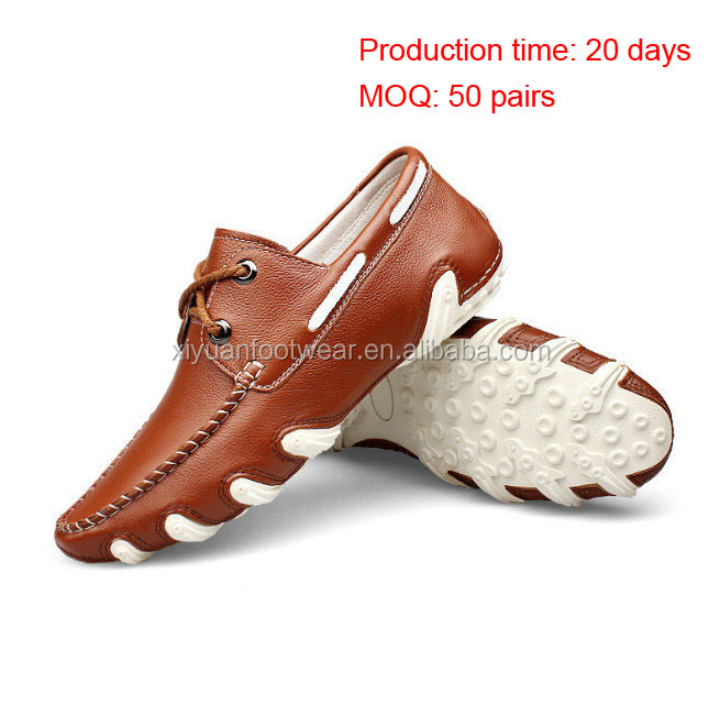 Original Design Men Leather Casual Dress Shoes With Rubber Sole