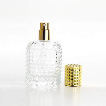 Hot sell 30ML 50ML New Style Pineapple Portable Glass Round Perfume Bottle with Diamond Crystal Caps For Cosmetic