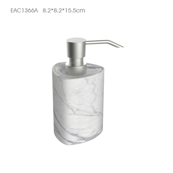 Bathroom Design Marble Effect Bath Soap Dispenser / Wholesale Bathroom  Accessories Set