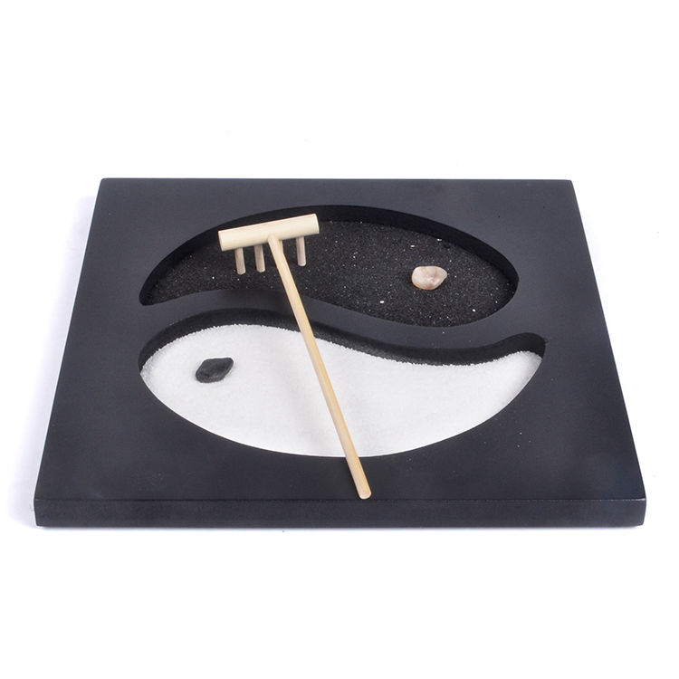 Small Desk Zen Garden Yinyang Design Fengshui Product With Nice Fitting Buy Japanese Sand Garden Garden Zen Zen Garden Rake Product On Alibaba Com