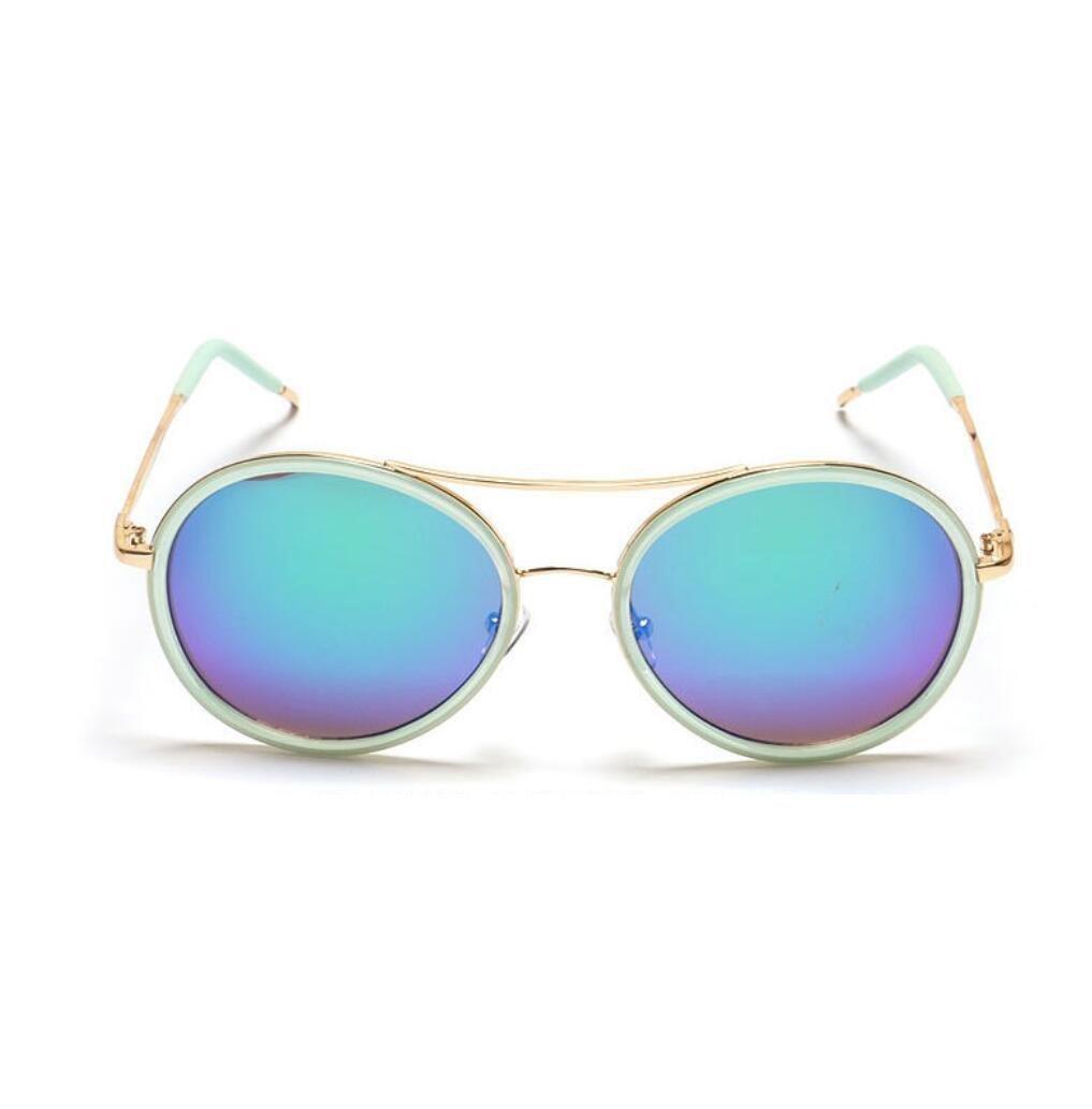 ZWC New 2016 European retro-reflective glasses round Oval sunglasses Sun glasses sunglasses