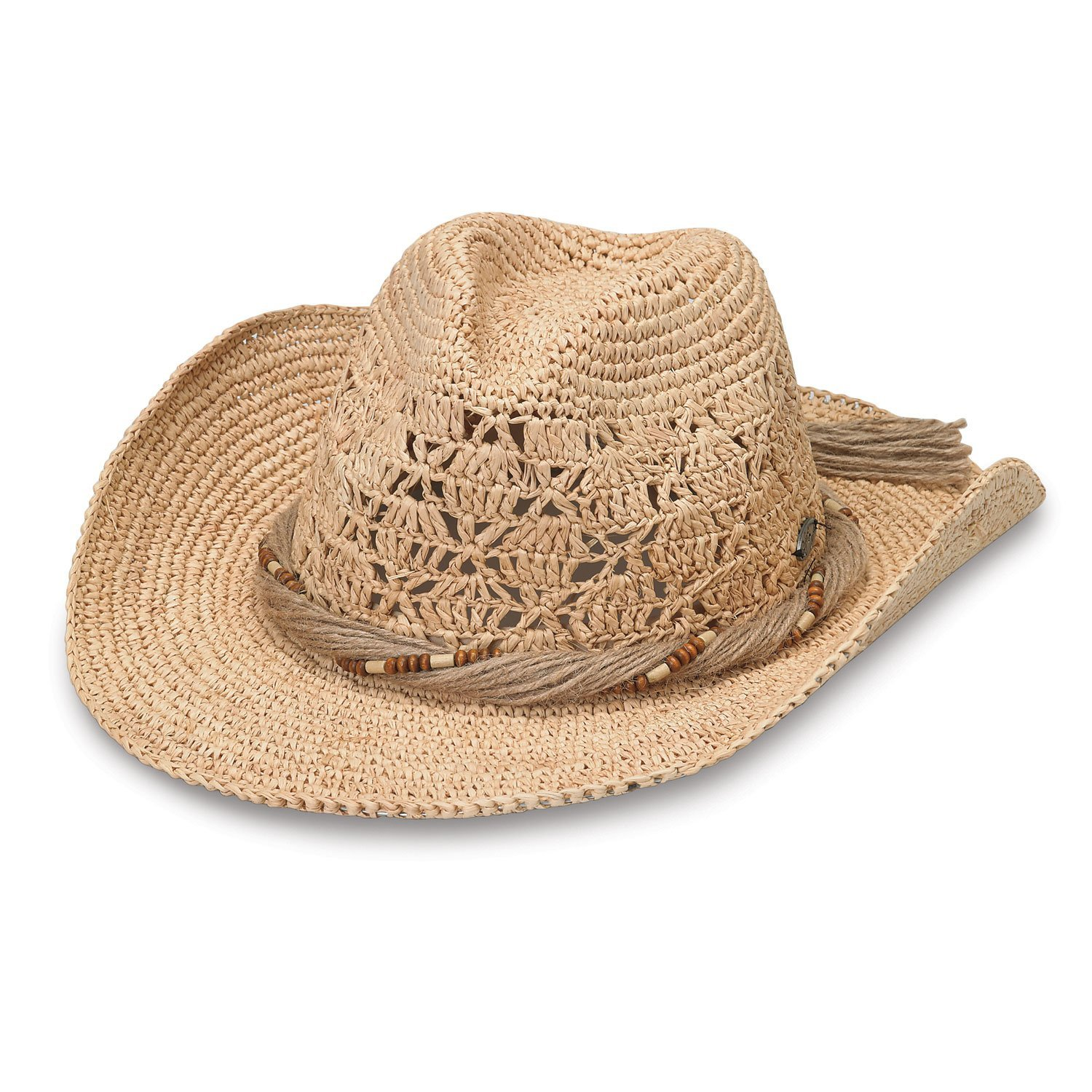 Get Quotations · Wallaroo Hat Company Women s Tina Woven Cowboy Hat 1185b876688