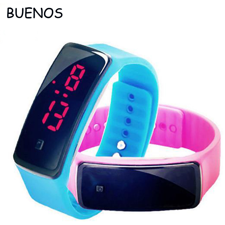 Cheap Simple Multi Colors Silicone LED Watches for <strong>Men</strong> and Women