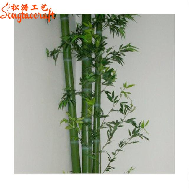 Decorative Natural Looking Lucky Outdoor Artificial Bamboo Poles