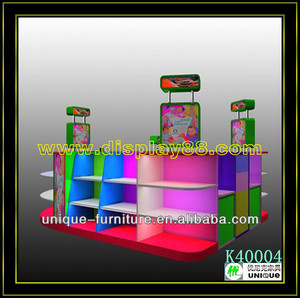 Shopping mall toy display showcase design/kiosk for children/children toy kiosk made in China