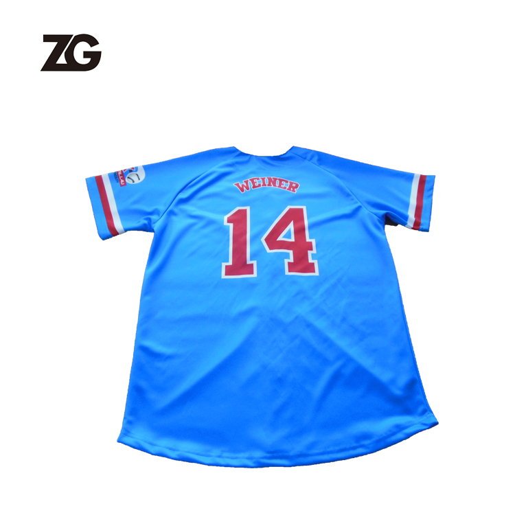 China fabrikant selling blauw team baseball jersey