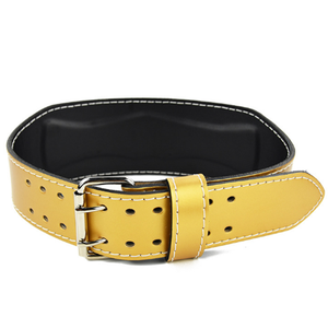 Wholesale cheap cowhide gold belt for weight training