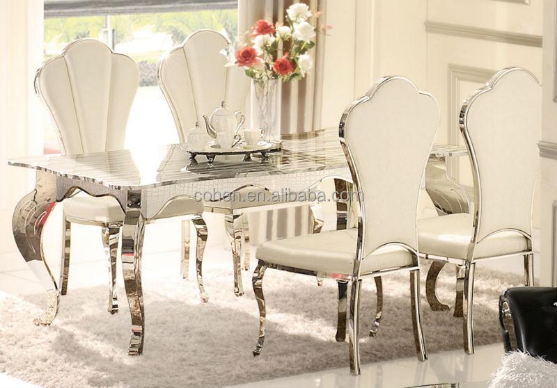 ah103 luxe salle manger table avec dessus en marbre table manger id de produit 2011847755. Black Bedroom Furniture Sets. Home Design Ideas