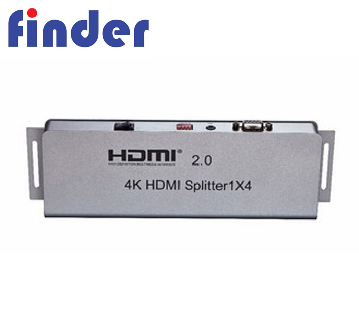 4K @ 60Hz 4 Port HDMI Splitter 1X4 Video Saklar 1 Di 4 Keluar Splitter Dukungan 4 K X 2 K 3D Full HD 1080 P