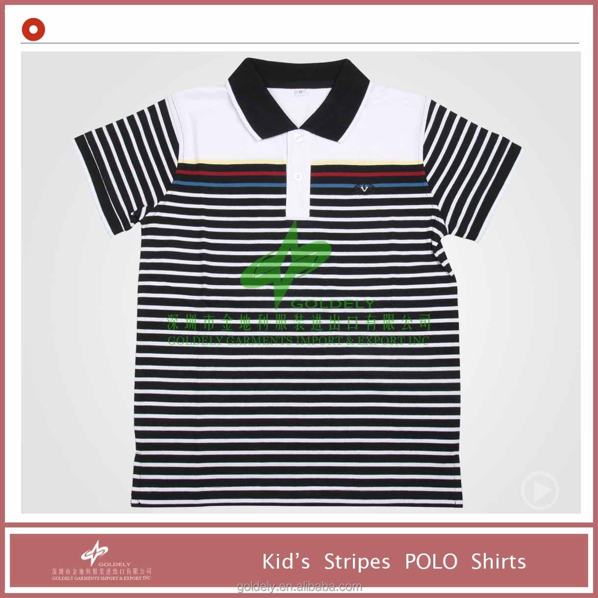 2014 new design polo shirts for boys