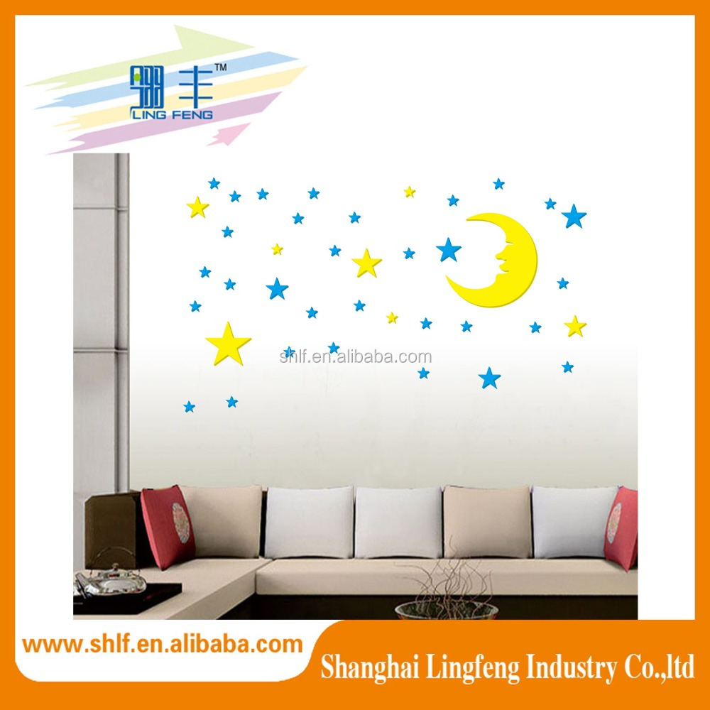 Children's favourite Lovely Moon and Star Wall Sticker for kid's room decoration