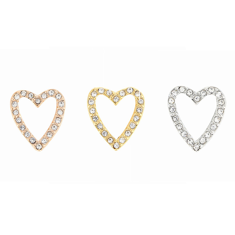 Wholesale Jewelry Accessories Crystal Heart Shape Charm