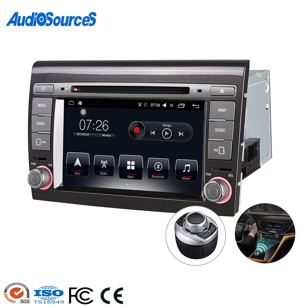"Großhandel 2 Din 7 ""android Touchscreen-Auto-Video-DVD-CD-Player für Fiat Bravo / Punto 2007-2012"