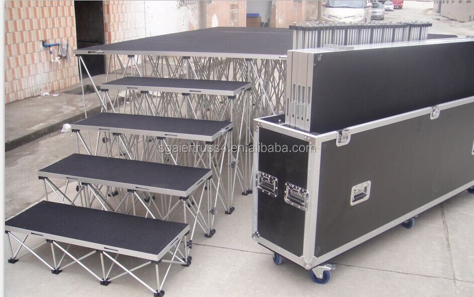 Portable Festival Music Moving Indoor Catwalk Runway Modular Movable Stage Platform System