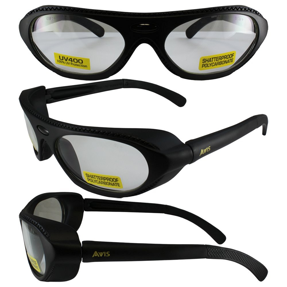 2f0587aec6 Get Quotations · Global Vision Rawhide RX able ANSI Z87.1 Prescription  Safety Glasses Black Frames Clear