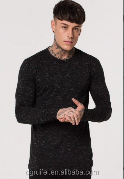 wholesale custom men t shirt gym bodybuilding brand clothes fitted long sleeve t shirt