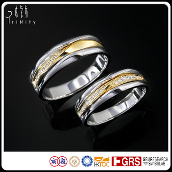 Lastest Design Wedding Bands Jewelry Saudi Arabia Gold Real Diamond Rings Ring