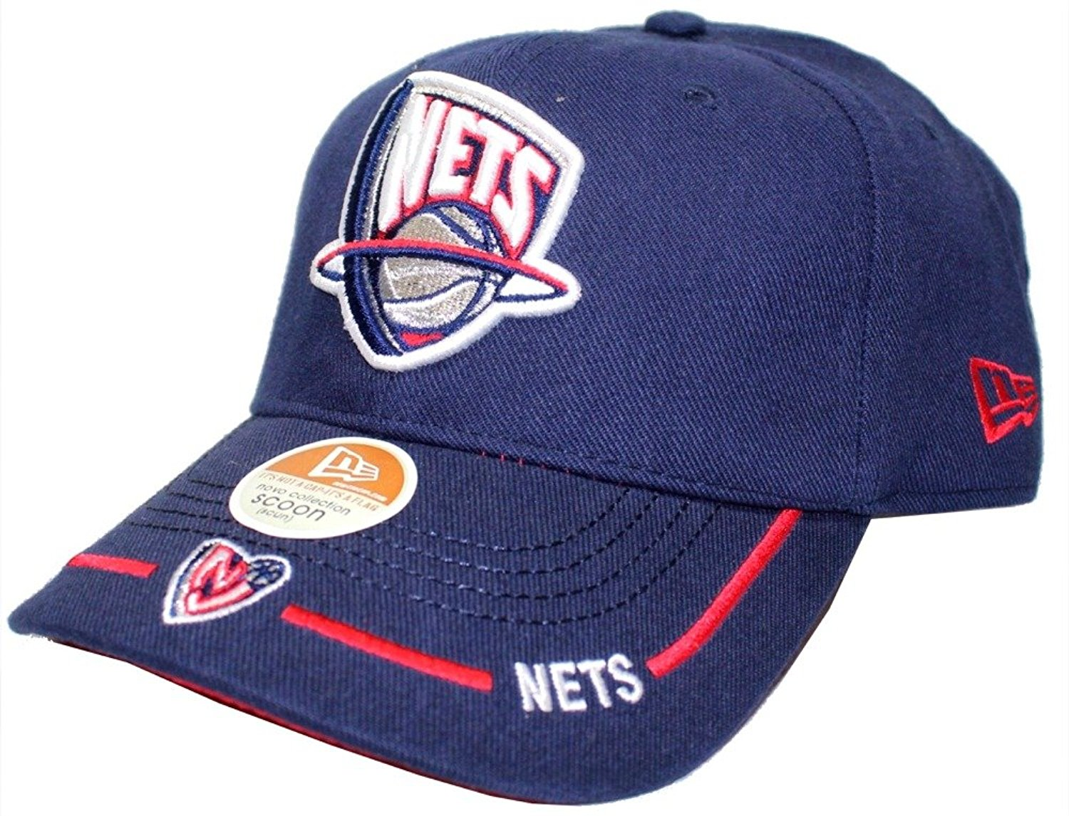 reputable site 9a98a d588b New Jersey Nets Licensed New Era NBA Cap Hat One Size Adjustable Basketball