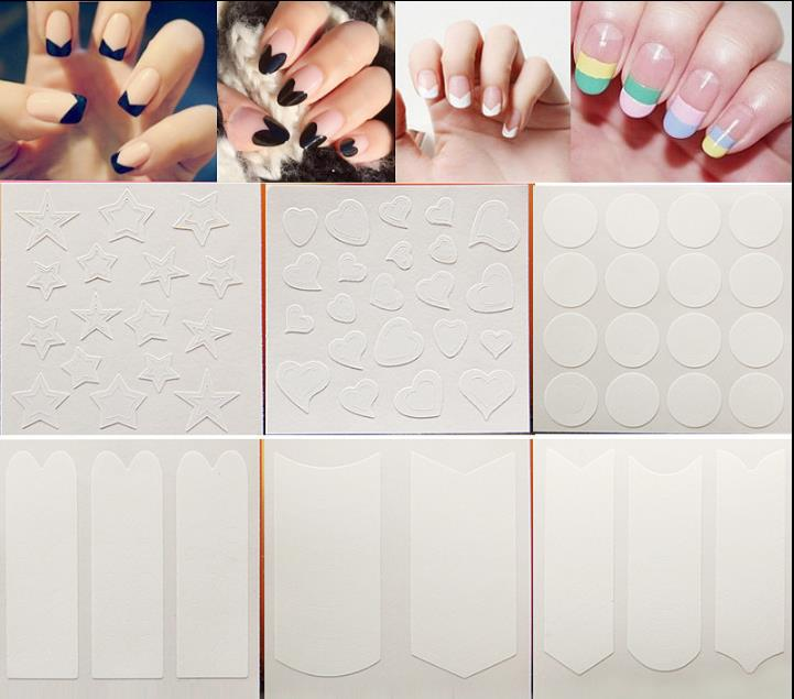 1pc Nails Sticker Tips Guide French Manicure Nail Art Decals Form Fringe Guides DIY Styling Beauty