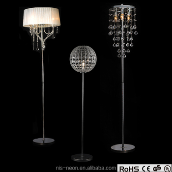 Crystal Drop Wedding Centerpiece Standing Chandelier Floor Lamp Ns 122007