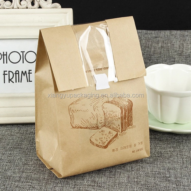 Bakery bread patisserie sandwich packaging film front paper bag