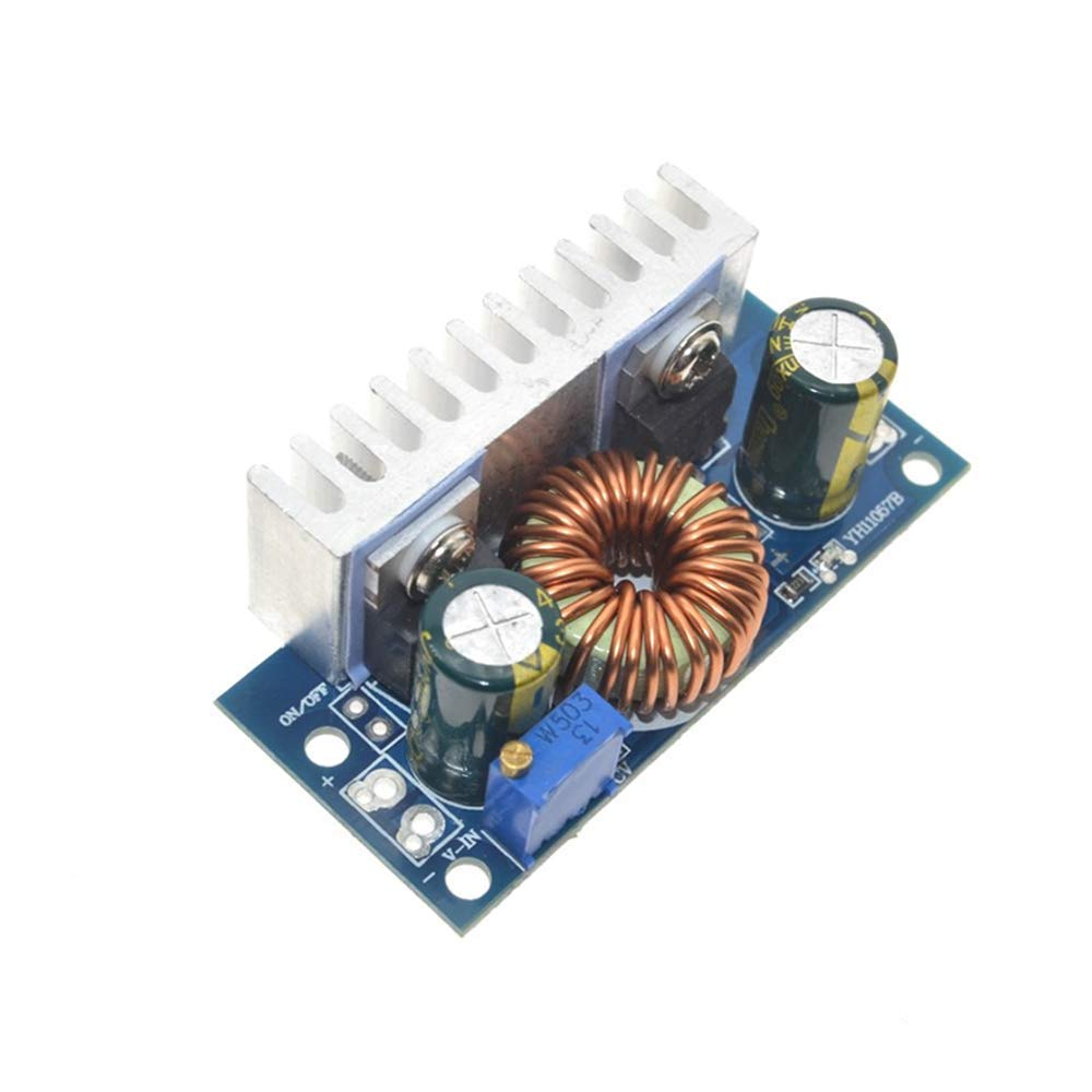 HUIMAI 1Pcs DC-DC Boost Converter Non-isolated Step-Up Power Supply Module With Heat Sink Adjustable 4.5V-32V to 5-42V 6A
