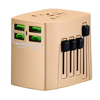 4USB Port 5V 5A USB output Excellent Quality Power Plug Travel Adapter US Asia to Australia AC Convertor Adaptor